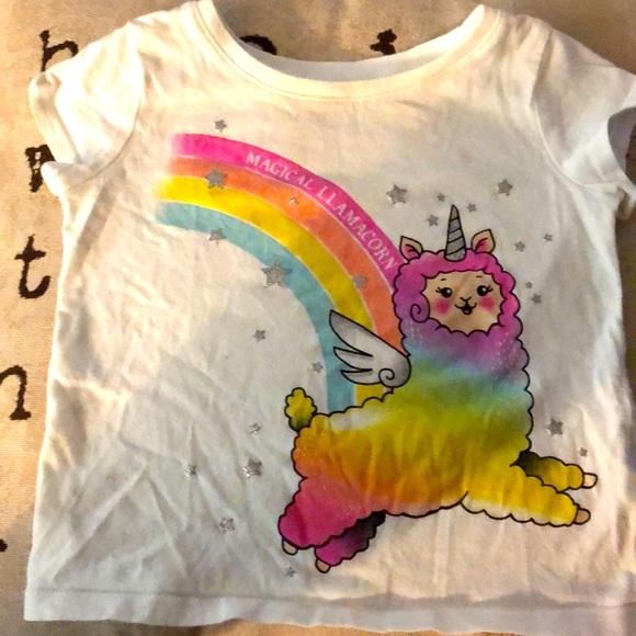 Girls Llamacorn Shirt